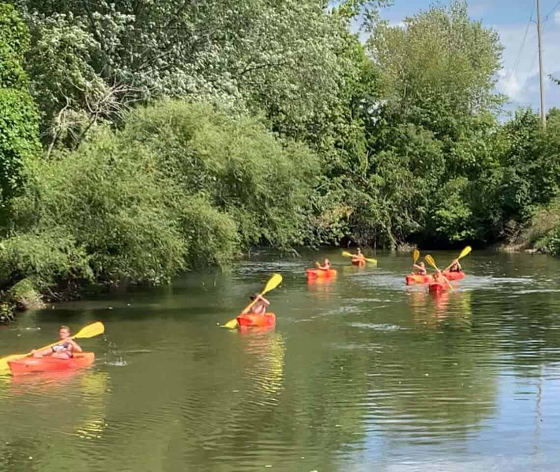 Kayaking down the Thornapple - Hastings, MI